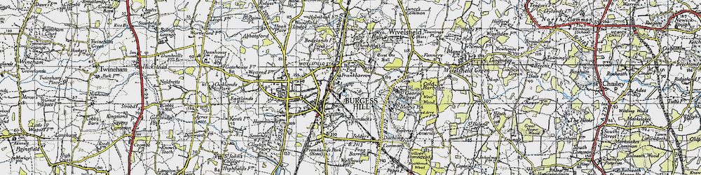 Old map of Wivelsfield Sta in 1940
