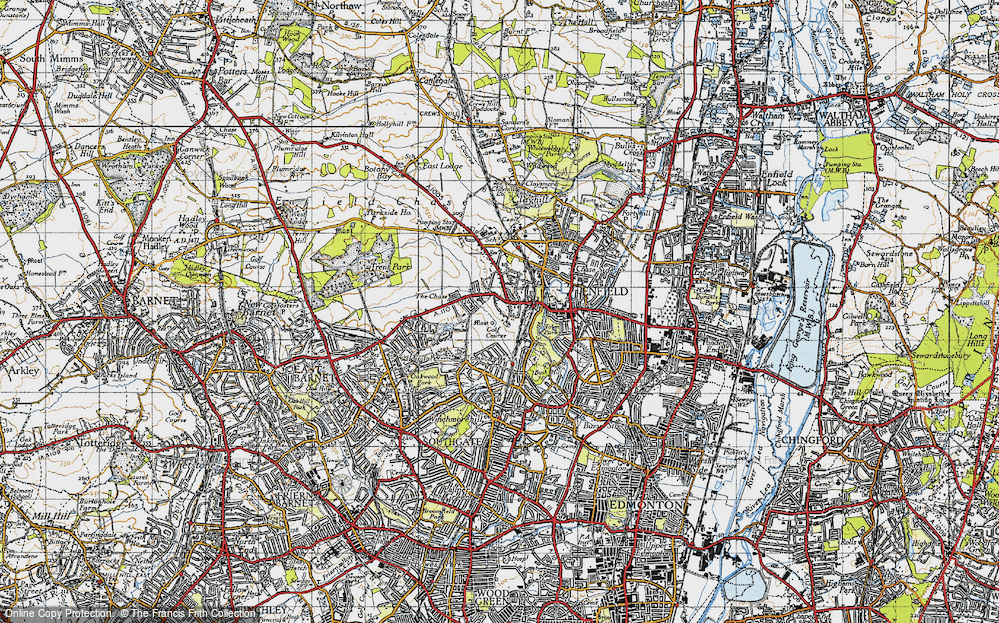Old Map of World's End, 1946 in 1946