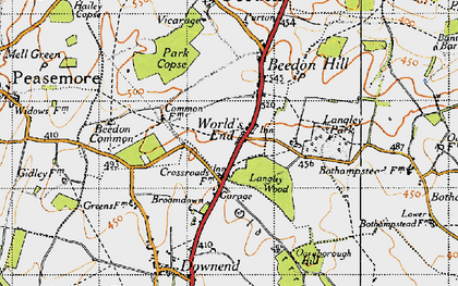 Old map of World's End in 1947