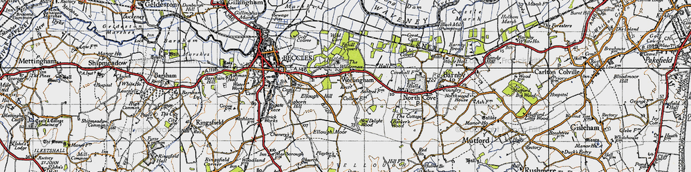 Old map of Wild Carr in 1946