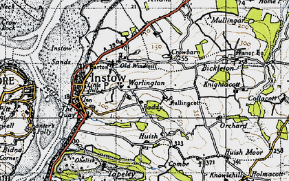 Old map of Worlington in 1946