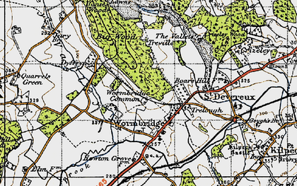 Old map of Wormbridge in 1947