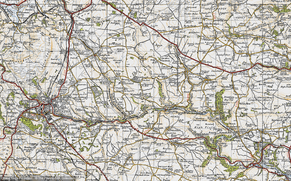 Old Map of Wormhill, 1947 in 1947