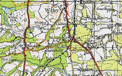 Old map of Wormley in 1940