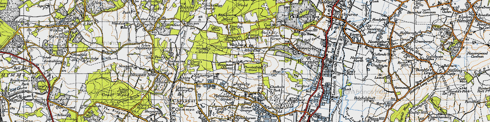 Old map of Westlea in 1946