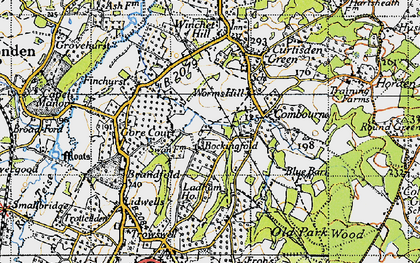Old map of Worms Hill in 1940