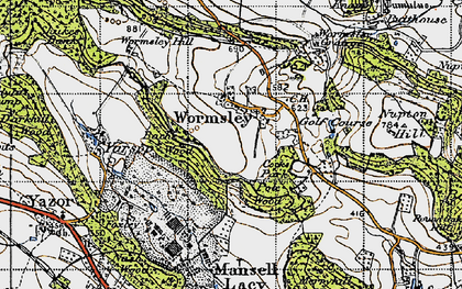 Old map of Wormsley Grange in 1947