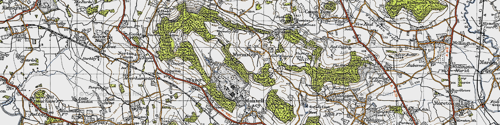 Old map of Wormsley in 1947