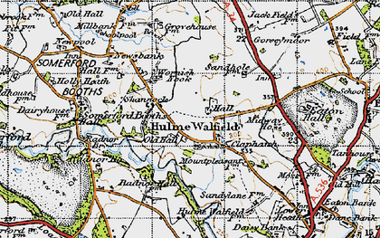 Old map of Wornish Nook in 1947