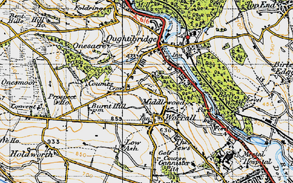 Old map of Worrall in 1947