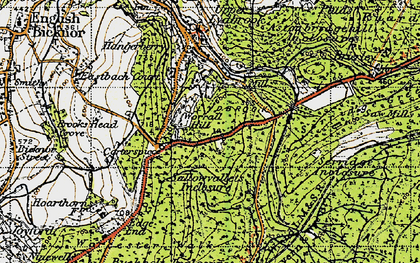 Old map of Worrall Hill in 1947