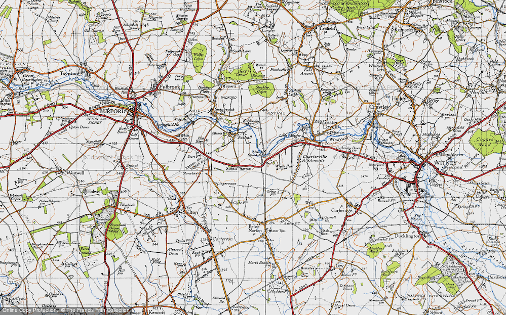 Old Map of Worsham, 1946 in 1946