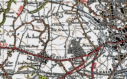 Old map of Worsley Hall in 1947