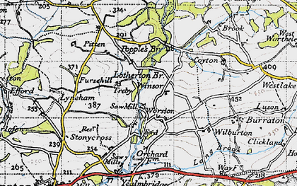 Old map of Worston in 1946
