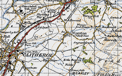 Old map of Barkerfield in 1947
