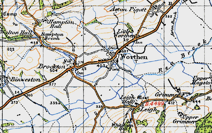 Old map of Worthen in 1947