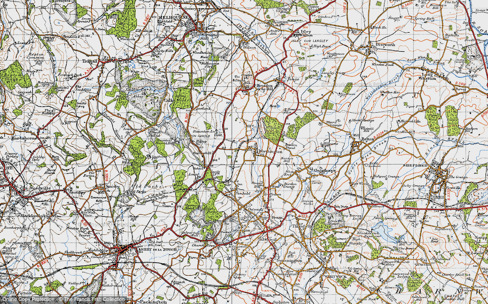 Old Map of Worthington, 1946 in 1946