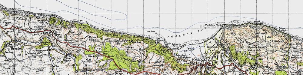 Old map of Westcott Brake in 1946