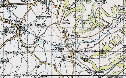 Old map of Wortley in 1946