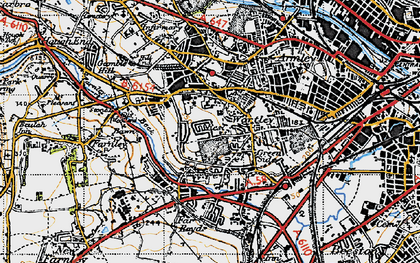 Old map of Wortley in 1947