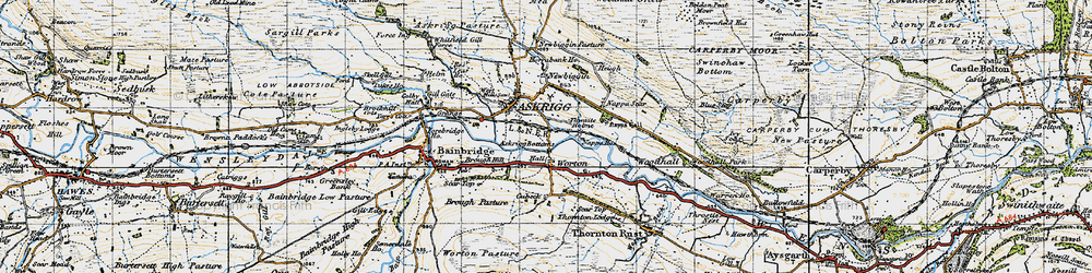 Old map of Worton in 1947