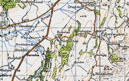 Old map of Woodmoor in 1947