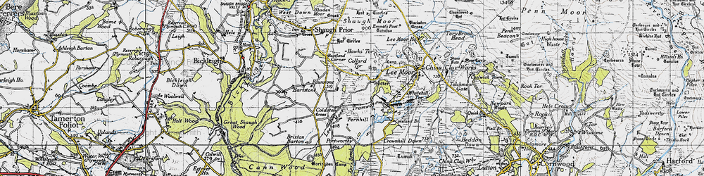 Old map of Wotter in 1946
