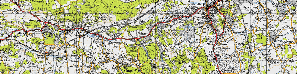 Old map of Westlane Barn in 1940