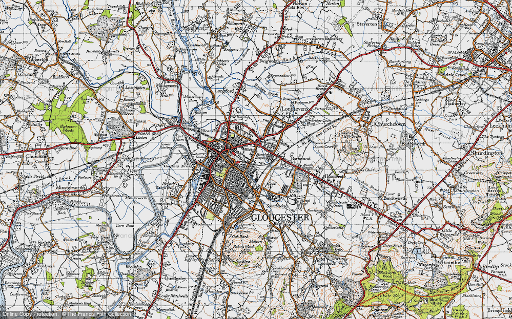 Old Map of Wotton, 1947 in 1947