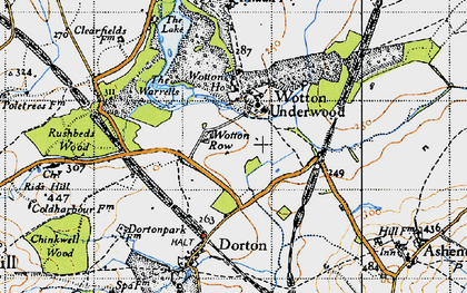 Old map of Wotton Ho in 1946