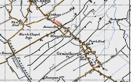 Old map of Wragholme in 1946