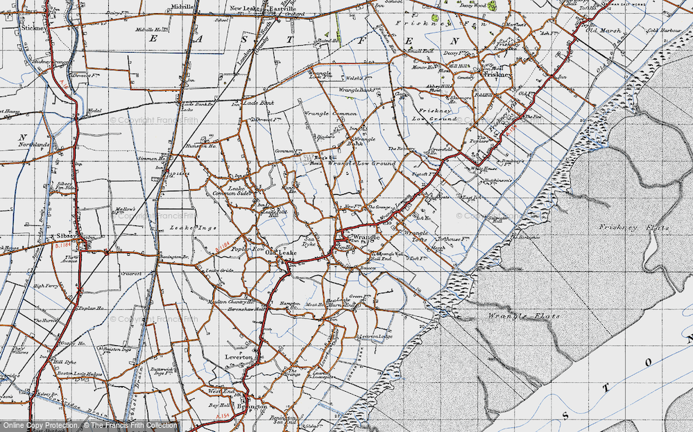 Old Map of Wrangle, 1946 in 1946