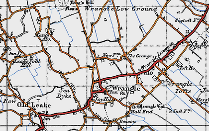 Old map of Wrangle in 1946