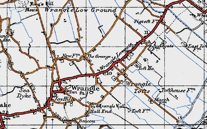 Old map of Wrangle Tofts in 1946