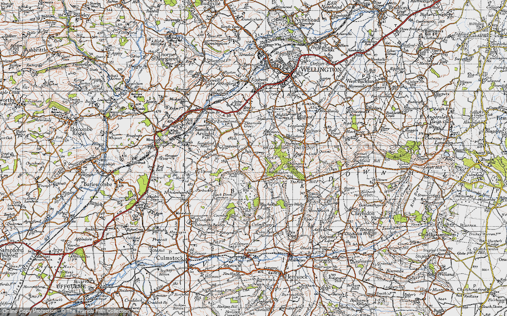 Old Map of Wrangway, 1946 in 1946