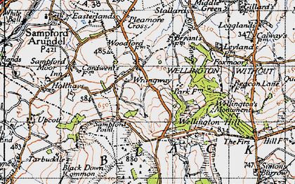 Old map of Wrangway in 1946