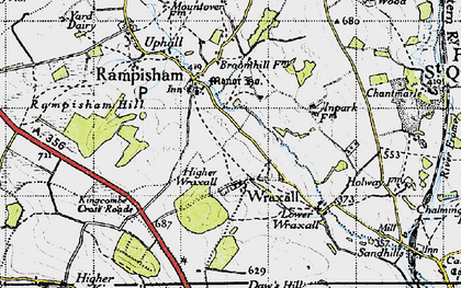 Old map of Wraxall in 1945