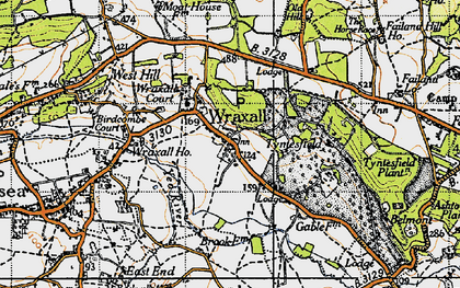 Old map of Wraxall Ho in 1946