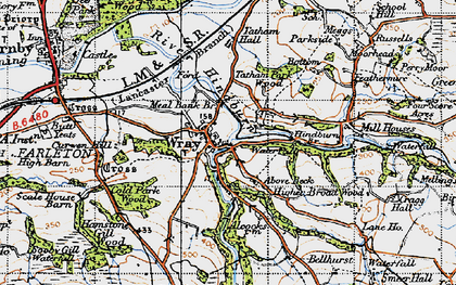 Old map of Wray in 1947