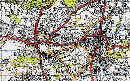 Old map of Wray Common in 1940