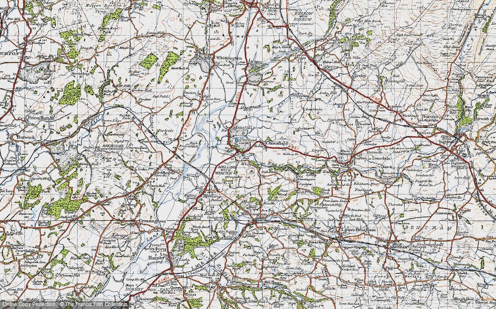 Old Map of Wrayton, 1947 in 1947