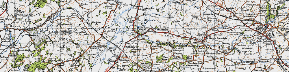 Old map of Wrayton in 1947