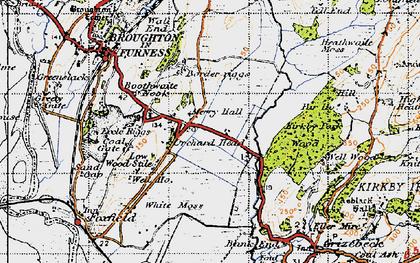 Old map of Wreaks End in 1947