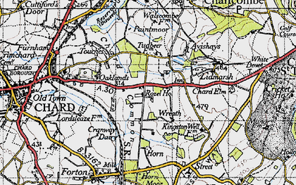 Old map of Wreath in 1945