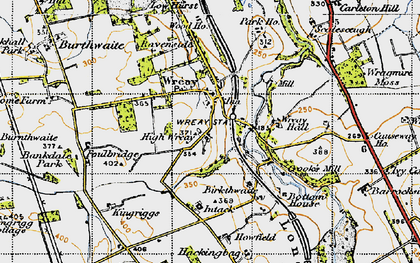 Old map of Wreay Hall in 1947