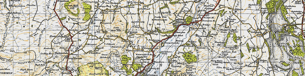 Old map of Tongue in 1947