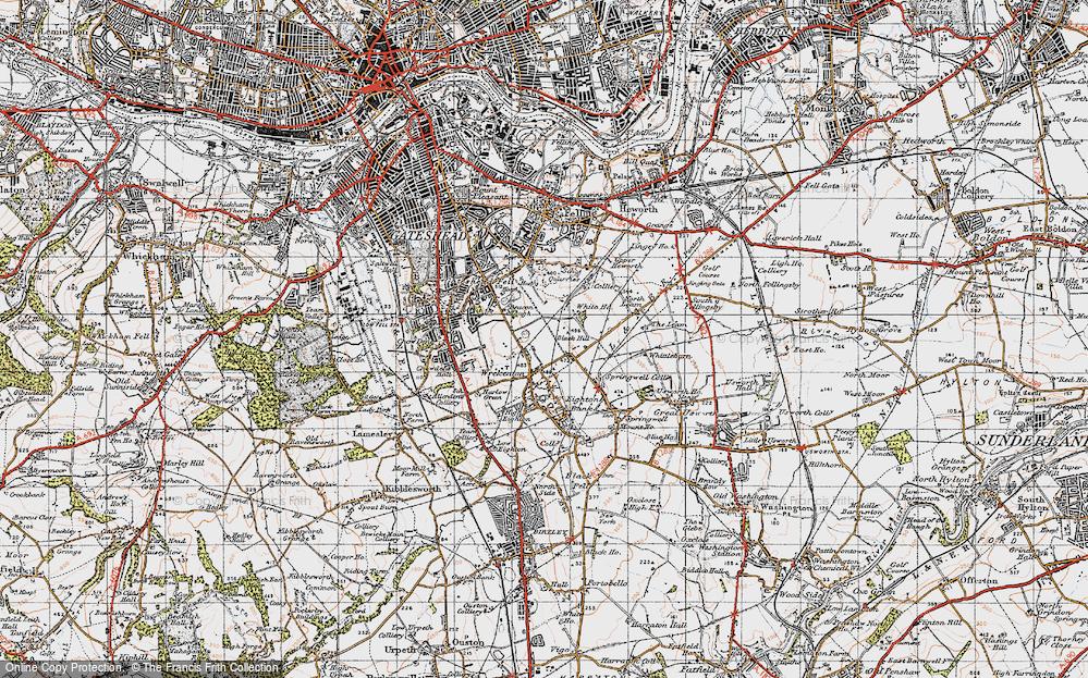 Old Map of Wrekenton, 1947 in 1947
