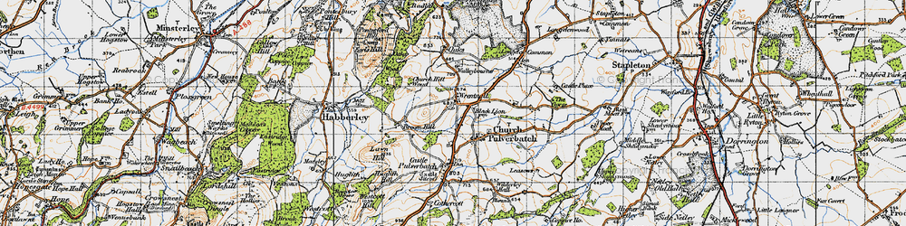 Old map of Wrentnall in 1947
