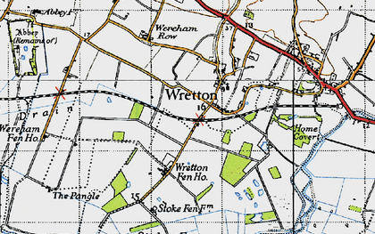 Old map of Wretton in 1946