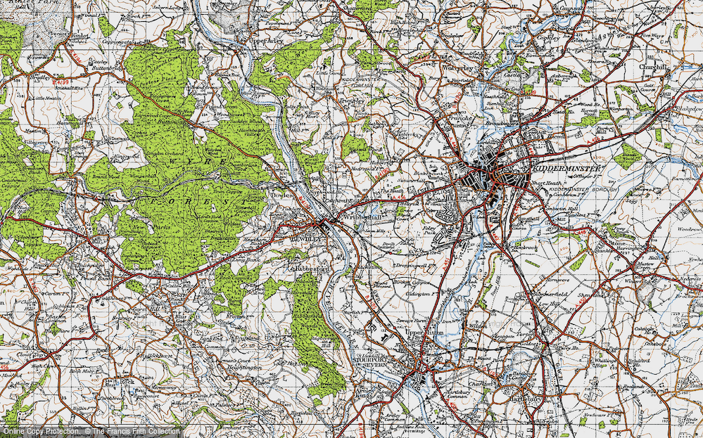 Old Map of Wribbenhall, 1947 in 1947